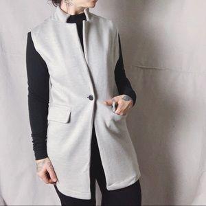 525 AMERICA Merino Wool Minimal One Button Vest